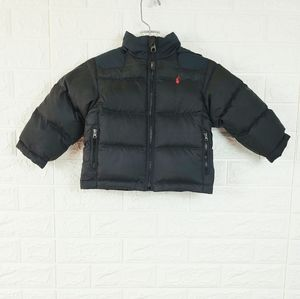 POLO Ralph Lauren Boys Puffer Coat   Black   2T